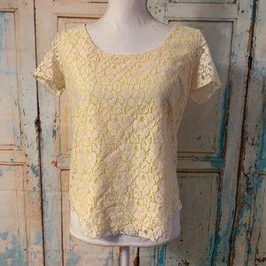 Cynthia Rowley lacy blouse